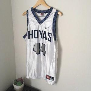 White Georgetown Hoyas Nike jersey